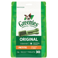 Greenies Petite Mega Pack 510gm 30 treats per pack