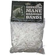 Show Master Mane Braiding Rubber Bands - White