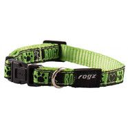 "Rogz Armed Response Lime Juice 17-27"" Dog Collar"