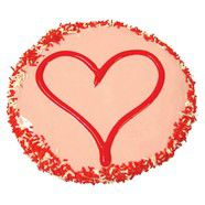 Valentines Yoghurt Frosted Large Love Heart Cake 12cm