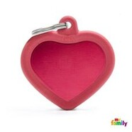 Pet ID Hush Tag Red Heart 3.7cm x 3.7cm