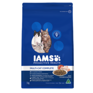 Iams Feline Multicat Complete with Chicken & Salmon 8kg