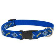 Lupine 12-20 Large Dog Collar Dapper Dog 1 inch thick, Adjustable 12-20 inches