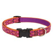 "Lupine 15-25"" Medium Dog Collar Alpen Glow 3/4 inch thick, Adjustable 9-14 inches"