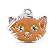 Pet ID Tag Friends Orange Domestic Shorthaired Cat 2.0cm x 2.5cm