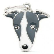Pet ID Tag Friends Whippet 2.9cm x 3.2cm