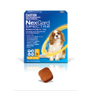 Nexgard Spectra for dogs 3.6- 7.5 kg pack of 1 Small dogs