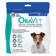 OraVet Dental Hygiene Chews for dogs [Size: Small Dogs 4.5-11kg]