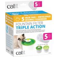 Catit 2.0 Senses Flower Water Fountain Water Softening Filter Set 5 Pack