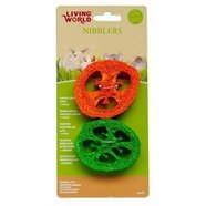 Living World Nibblers Crunchy Capsicum Small Animal Loofah Chew 2 pack