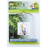Cement Bird Swing with Wire Frame 7inches