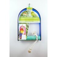 Cement Bird Swing with Acrylic Frame Large