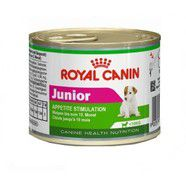Royal Canin Mini Junior Cans 12 x 195gm Appetite Stimulation