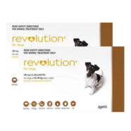 Revolution 12 pack For Dogs 5 - 10kg Brown Plus Free Canex Worm tablets *Plus 4 FREE Bonus Doses*