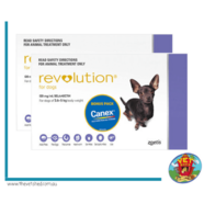 Revolution 12 pack For Dogs 2.7- 5kg Purple Plus FREE Canine all wormer worming tablets