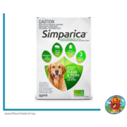 Simparica for Large dogs 20-40kg 6 pack Flea, Tick and Mite treatment