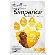 Simparica for Pups and small dogs 1.3-2.5kg 3 pack  Flea, Tick and Mite treatment