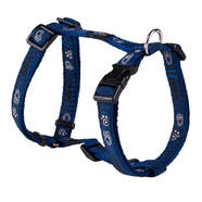Rogz Medium H-Harness 32-52cm Navy Paws