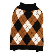 DGG Knit Jumper Black & Caramel Argyle Extra Small *CLEARANCE**