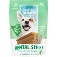 Tropiclean Fresh Breath Dental Stick Vanilla Mint Regular 227g
