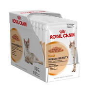 Royal Canin Intense Beauty in Gravy wet cat food pouches 85gm x 12