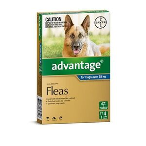 Advantage Blue 4pk Dogs over 25kg