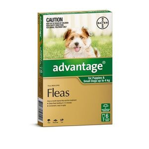 Advantage Green 6pk Dogs up to 4kg