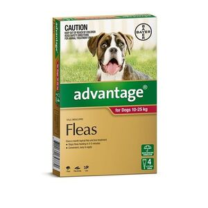 Advantage Red 4pk Dogs 10-25kg